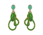 emerald and bamboo earrings