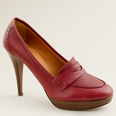 High heeled loafer J Crew (1)