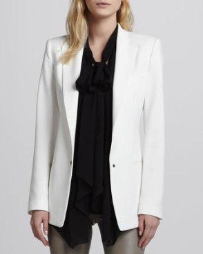 Rodriques white tuxedo jacket